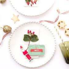 christmas place cards and place card holders notonthehighstreet com