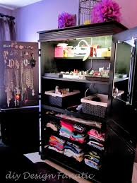 diy design fanatic diy storage how to store your stuff organized armoire jewelry armoire diydesignfanatic com bling eez cottage