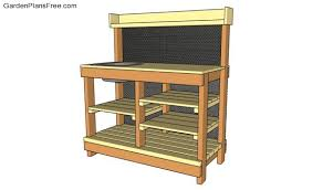 Free Wooden Potting Bench Plans by Potting Bench Plans With Sink Free Garden Plans How To Build