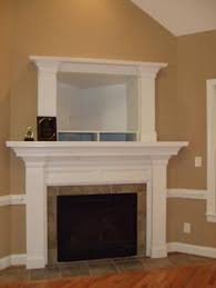 Built In Fireplace Gas by White Built In Tv Box Above Fireplace Google Search For The