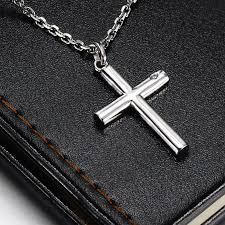 jewelry silver cross necklace images Blue sweet couples necklaces cylinder cross pendant for men or jpg
