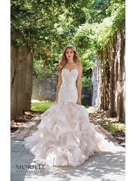 mori bridal mori 8111 maisie ruffle mermaid bridal gown ivory