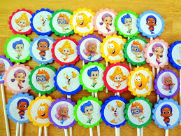 little monster party favors bubble guppies cupcake wrappers