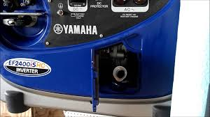 yamaha generator ef2400ishc oil change youtube