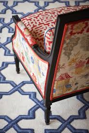 Marks And Spencer Upholstery Fabric Red White And Blue Chinoiserie Chinoiserie Chic Chinoiserie