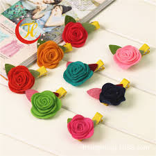 Flower Decorations For Hair Korean New Rose Flower Barrettes For Children Baby Hair Clips
