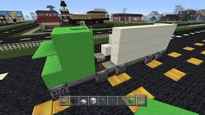 minecraft semi truck minecraft ideas vehicles we build a semitruck video dailymotion