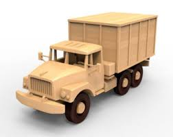 russian zil 131 wooden truck model woodworking plans for diy