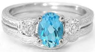 blue topaz engagement rings 3 vintage blue topaz and white sapphire engagement ring and