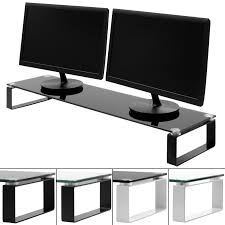Computer Desk Tv Stand by X Large Double Monitor Screen Riser Block Shelf Computer Imac Tv