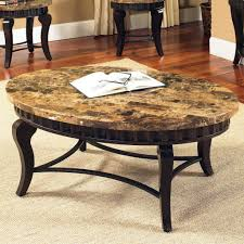 furniture sturdy coffee table decoration with granite table top