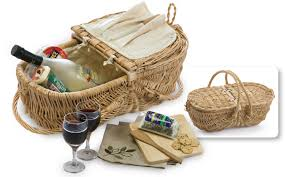 wine picnic baskets plus eco wine and cheese basket