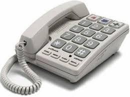 visual phone ringer light cortelco 240085 voe 21f big button corded phone keypad dialer type