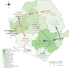 Map Of Sierra Leone Transmission Network Of The 2014 U20132015 Ebola Epidemic In Sierra