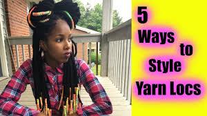5 quick u0026 easy yarn locs styles youtube