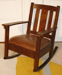 Rocking Chair Antique Genuine Limbert Arts U0026 Crafts Rocker Rocking Chair