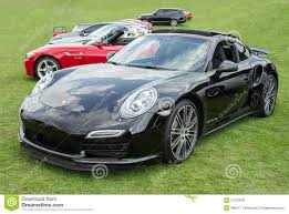 black porsche 911 turbo black porsche 911 turbo front editorial stock photo image 57330528