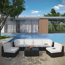aero 7 piece outdoor patio sectional set
