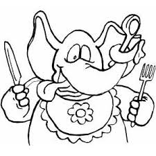 hungry elephant coloring