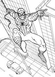 marvel superhero spiderman coloring coloring sun