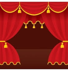 empty stage with red curtains royalty free vector image