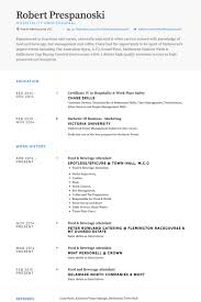 Example Of Australian Resume by Hospitality Resume Samples Visualcv Resume Samples Database