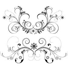 floral ornament vector set at vectorportal