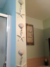 Nautical Bathroom Decor by Beach Bathroom Decor Beach Shell Hooks From Kohl U0027s And Starfish