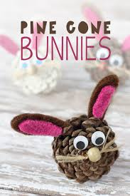 pine cone bunnies