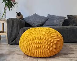 knit pouf etsy