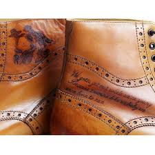 tattooed boots leather shoes boots pinterest tattoo