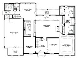4 bedroom house plans 1 story simple bedroom house plans one story split six modern large 2 with
