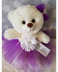 flower girl teddy deal on personalized custom flower girl gift tutu teddy