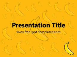 banana ppt template