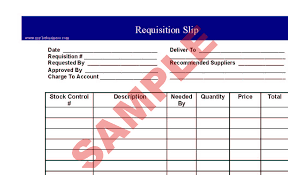 sample requisition form purchase request form template excel form