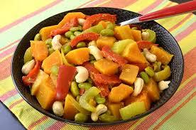 cuisiner courge butternut curry de courge butternut et autres légumes ma cuisine santé