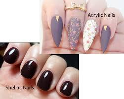 shellac nails vs gel polish nails gallery