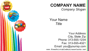 childcare business cards child care business card