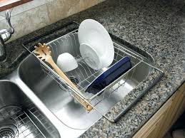 Kitchen Sink Tray Dish Rack Stainless Steel Drainer Tray Hanging Kitchen Sink S Moute