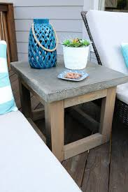 Diy Round End Table by Best 25 Outdoor Side Table Ideas On Pinterest Easy Patio