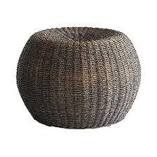 pier 1 imports round rattan pouf polyvore