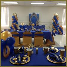 Themes Baby Shower Royal Blue And Gold Prince Baby Shower