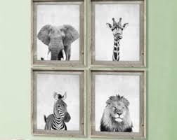six animal prints boys nursery room ideas woodland animals