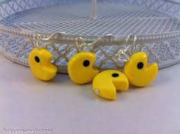 pacman earrings kawaii polymer clay pac earrings rilakkumashop