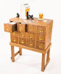 Vintage Kids Desk by Custom Vintage Library Card Catalog Style Cd Organizer By Against