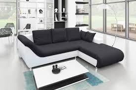 vente de canape canapé d angle convertible tudor noir blanc achat vente canapé
