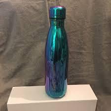 s u0027well metallic blue green starbucks water bottle ebay