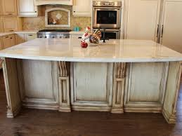 a beautifully polished quartzite countertop was used on this large