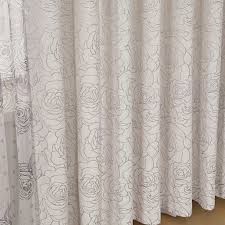 Brown And Ivory Curtains Modern And Fashionable Floral Pattern Artificial Fiber Ivory