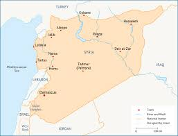 Syria And Iraq Map by Syria Fanack Energy